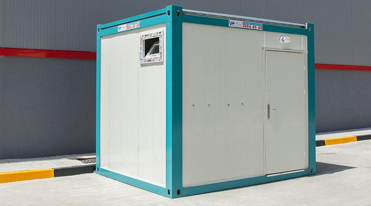 En çok kullanılan konteyner çeşitleri arasında bulunan konteyner WC-duş