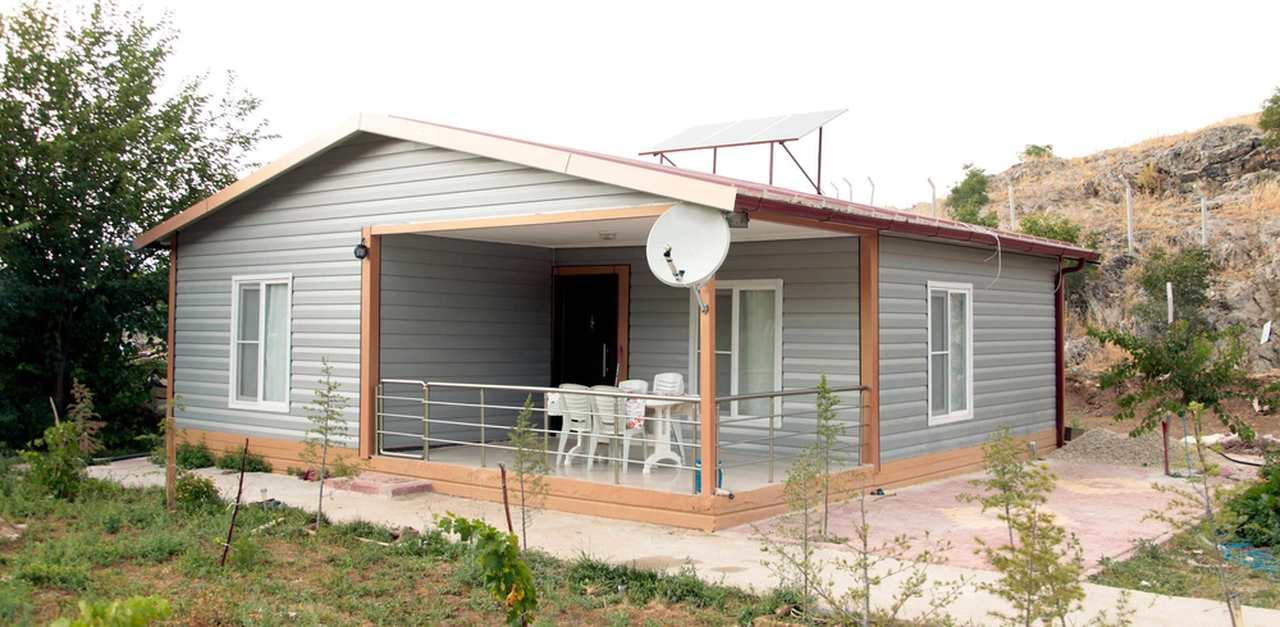 tek katlı yazlık prefabrik ev