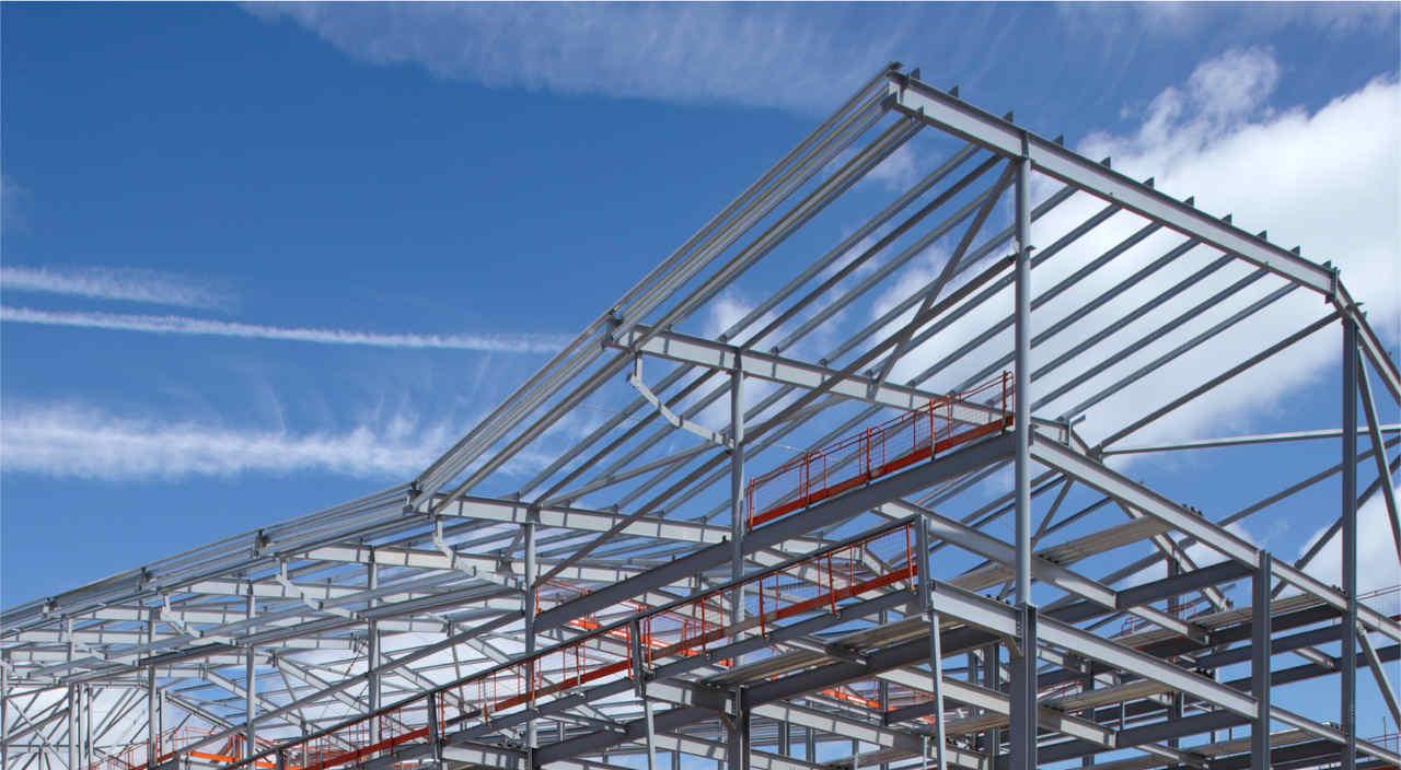 prefabrik evin çelik çatı iskelesi