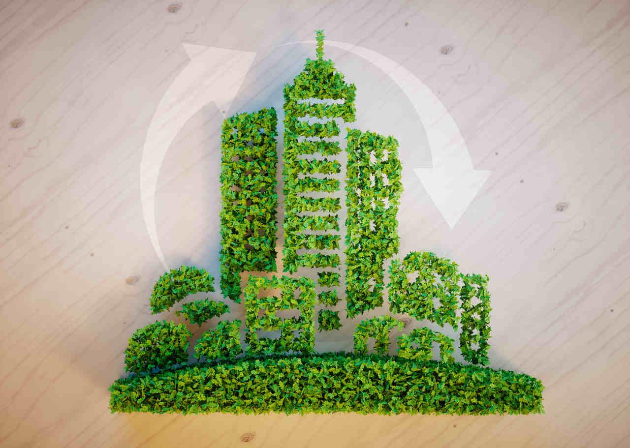 yeşil şehir ikonu